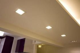 Lâmpada de LED para gesso quadrada