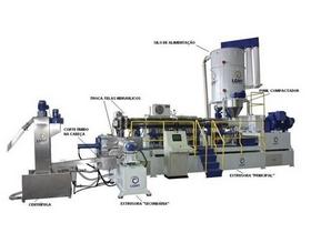 Máquina extrusora de plástico reciclado